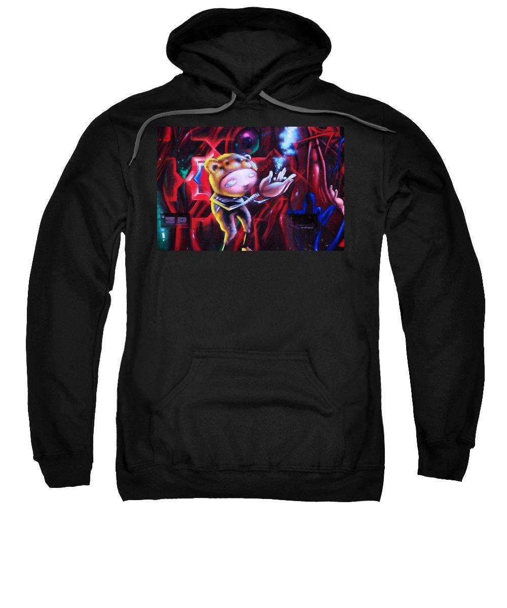 Graffitti Sweatshirt featuring the photograph The Art Of Magic by Kicking Bear Productions