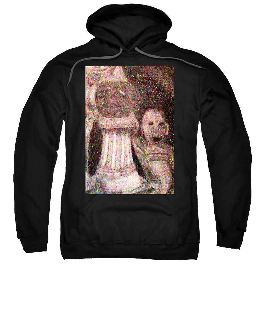 Glass Sweatshirt featuring the drawing The Art Teacher by Debra Lynch