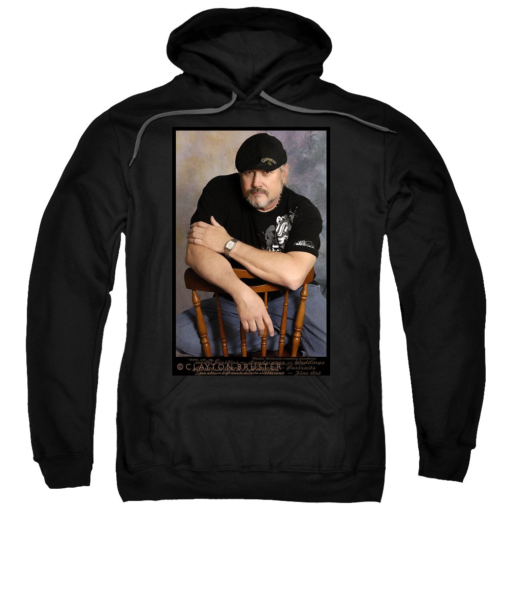 Clay Sweatshirt featuring the photograph The Artist by Clayton Bruster