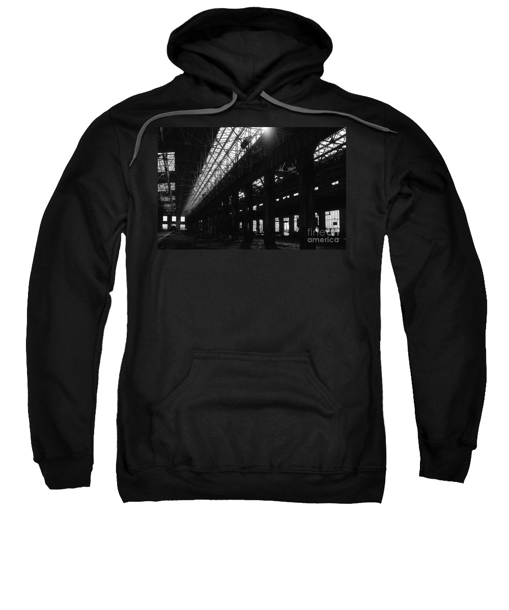 Buildings Sweatshirt featuring the photograph The Back Shop by Richard Rizzo
