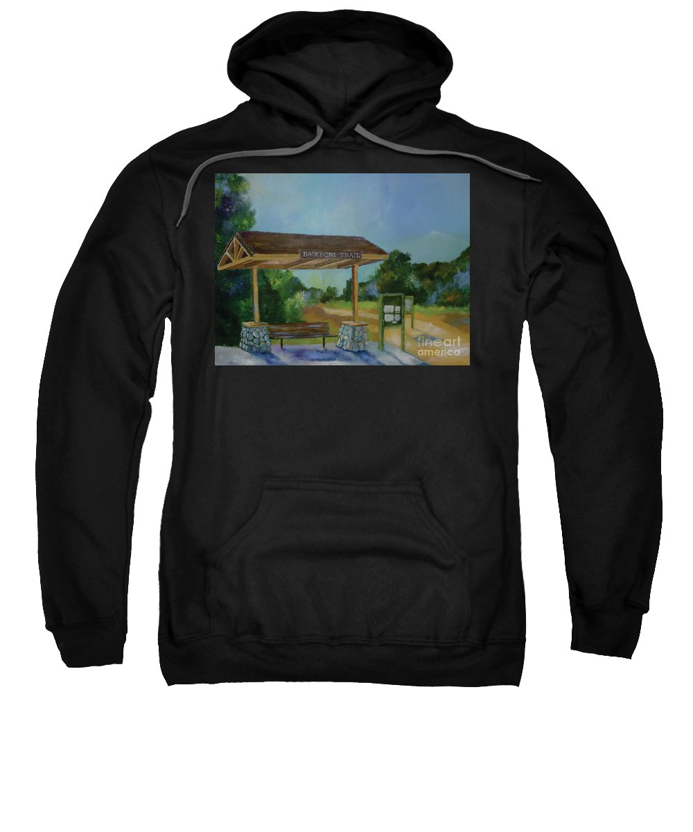 Backbone Trail Sweatshirt featuring the painting The Backbone Trail by Stacey Best