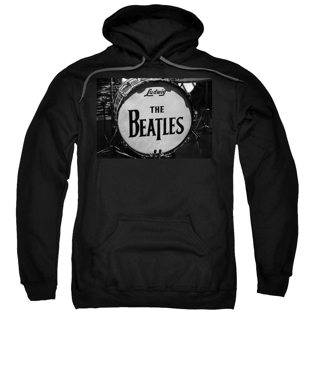 The Beatles Drum Sweatshirt featuring the photograph The Beatles Drum by Dan Sproul