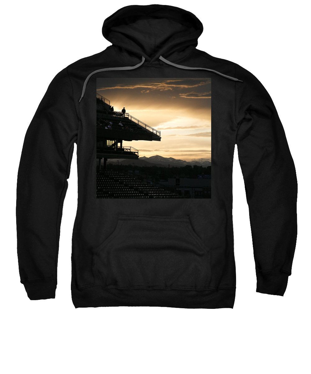 Sunset Sweatshirt featuring the photograph The Beauty Of Baseball In Colorado by Marilyn Hunt