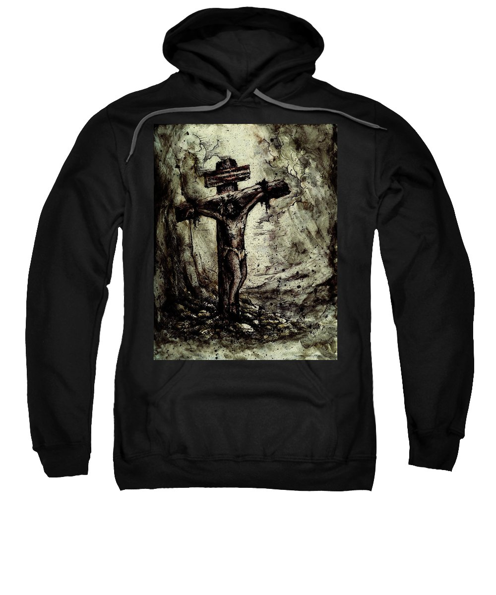 Figure Sweatshirt featuring the drawing The Beloved Son by Rachel Christine Nowicki