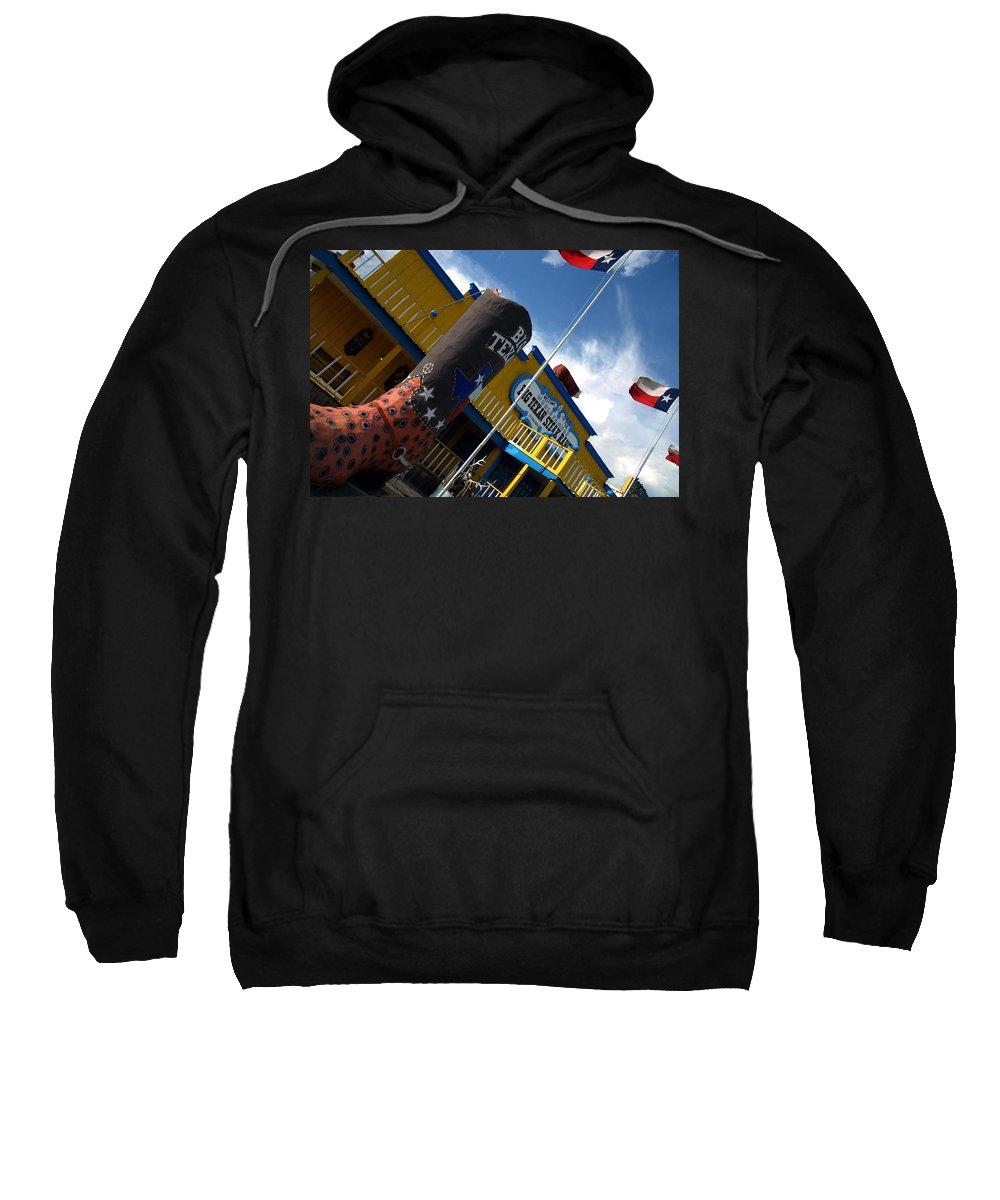 The Big Texan Sweatshirt featuring the photograph The Big Texan II by Susanne Van Hulst