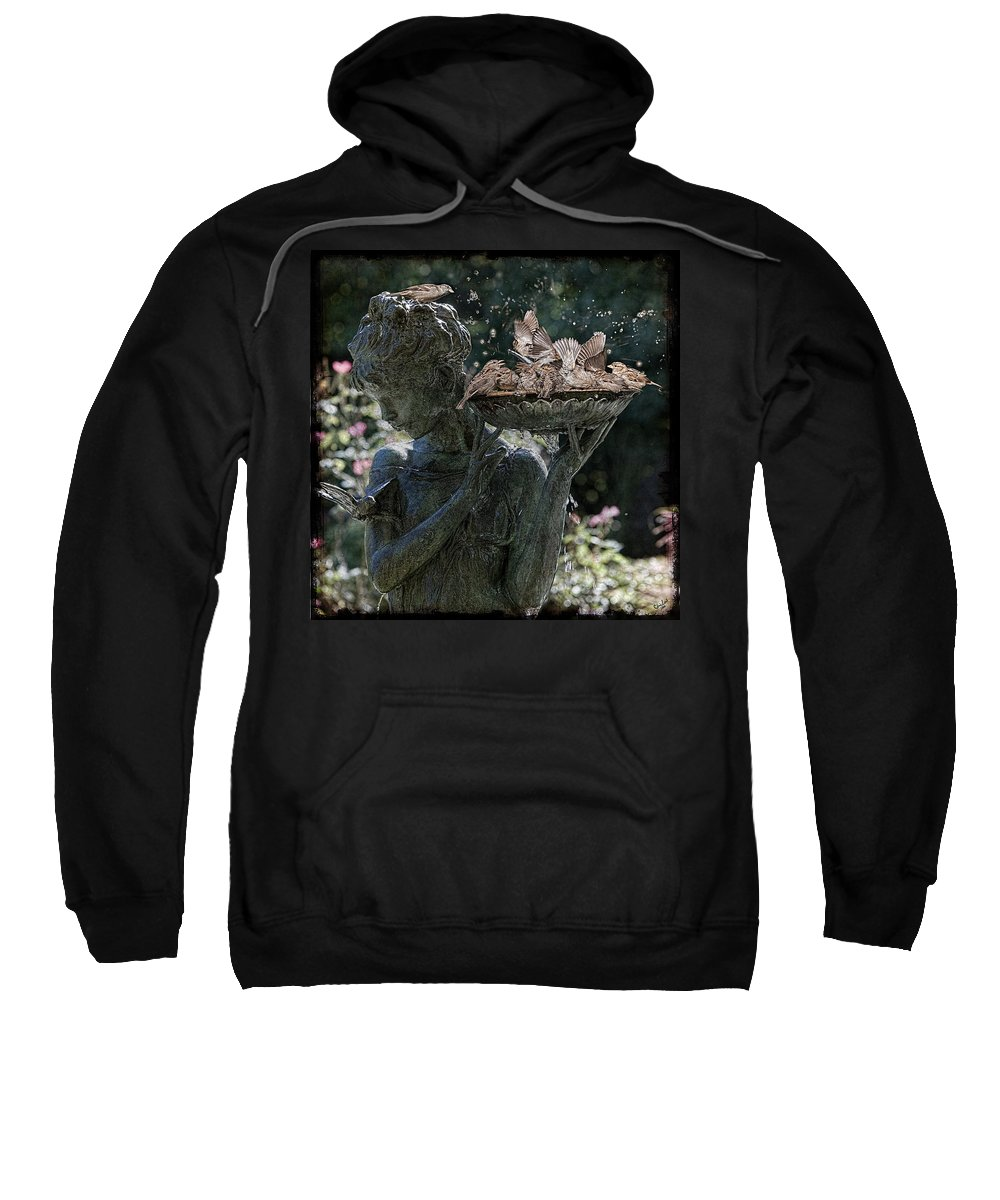Bird Sweatshirt featuring the photograph The Bird Bath by Chris Lord