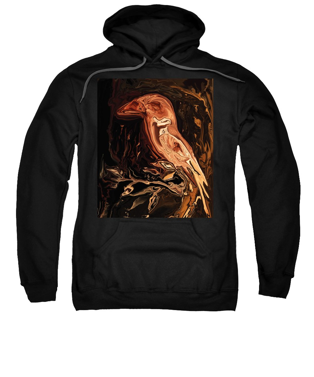 Art Sweatshirt featuring the digital art The Bird Unknown 2 by Rabi Khan