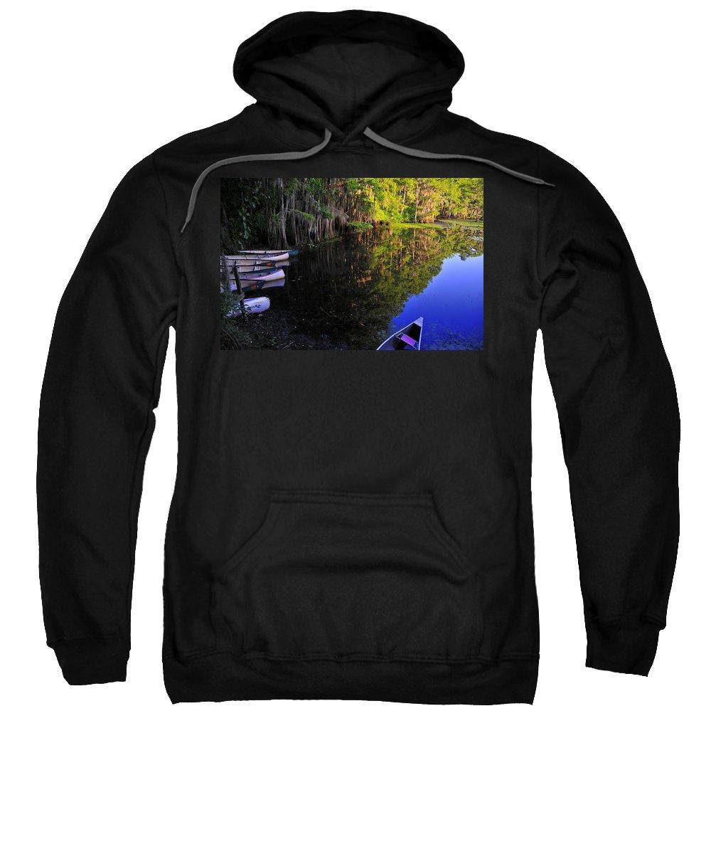 Skip Hunt Sweatshirt featuring the photograph The Black Lagoon by Skip Hunt