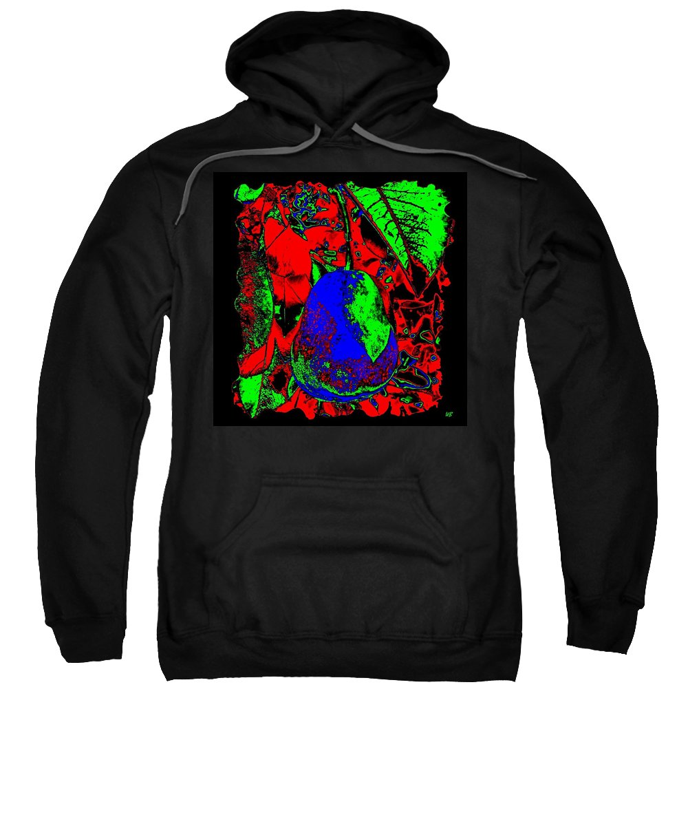 Abstract Sweatshirt featuring the digital art The Blue Pear by Will Borden