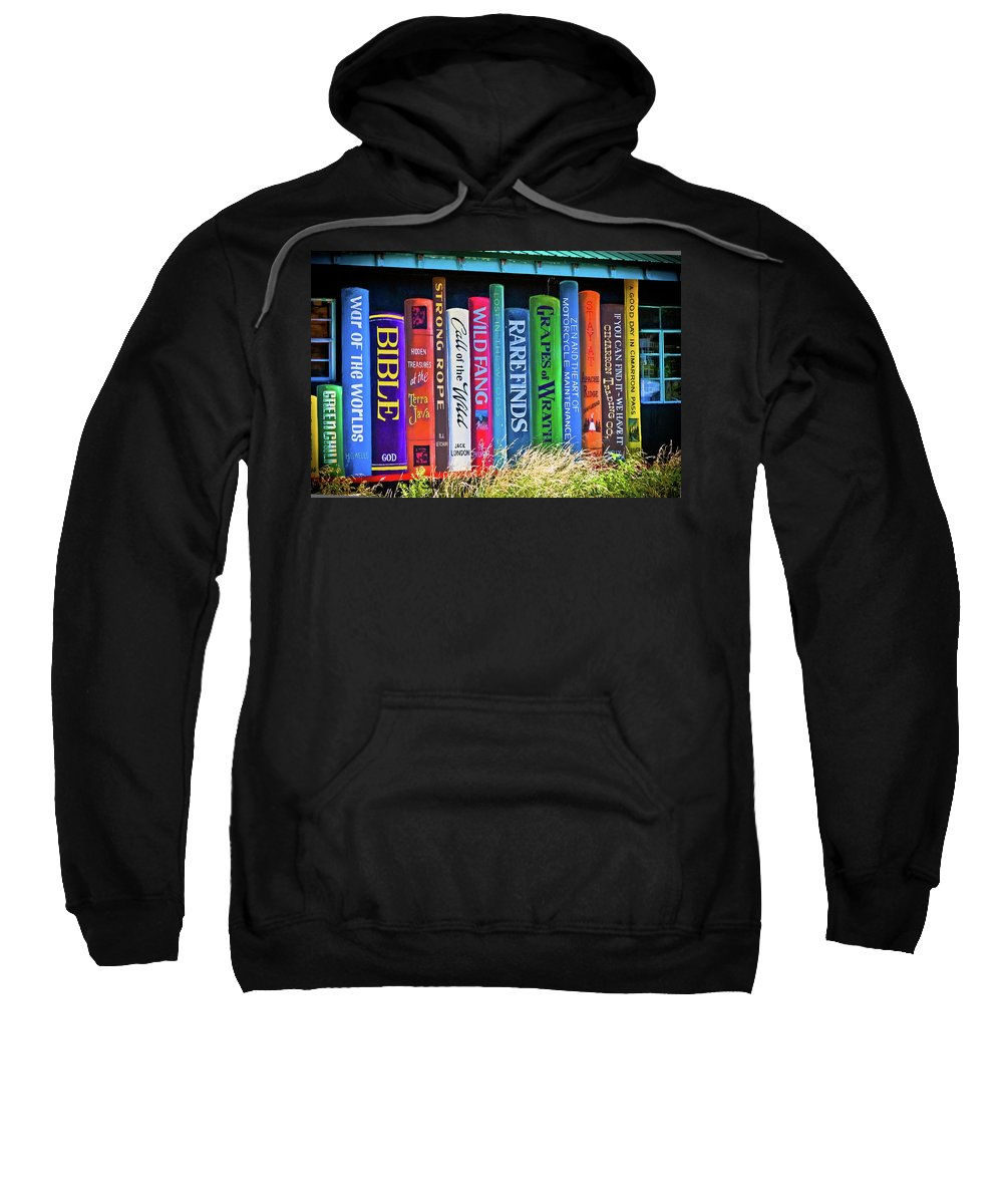 Books Sweatshirt featuring the photograph The Bookstore by Jill Smith
