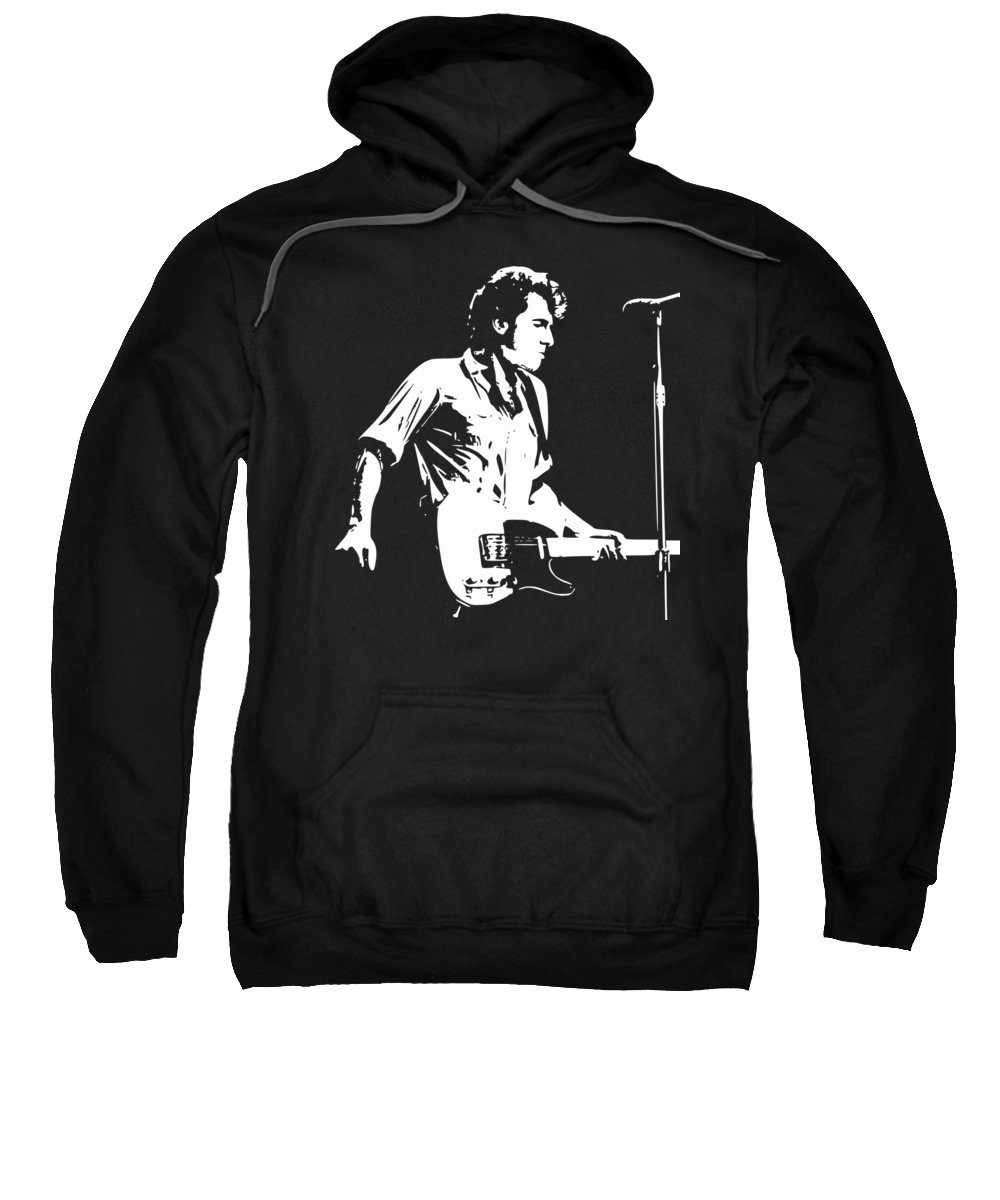 Bruce Sweatshirt featuring the digital art The Boss Rock Pop Art by Filip Schpindel