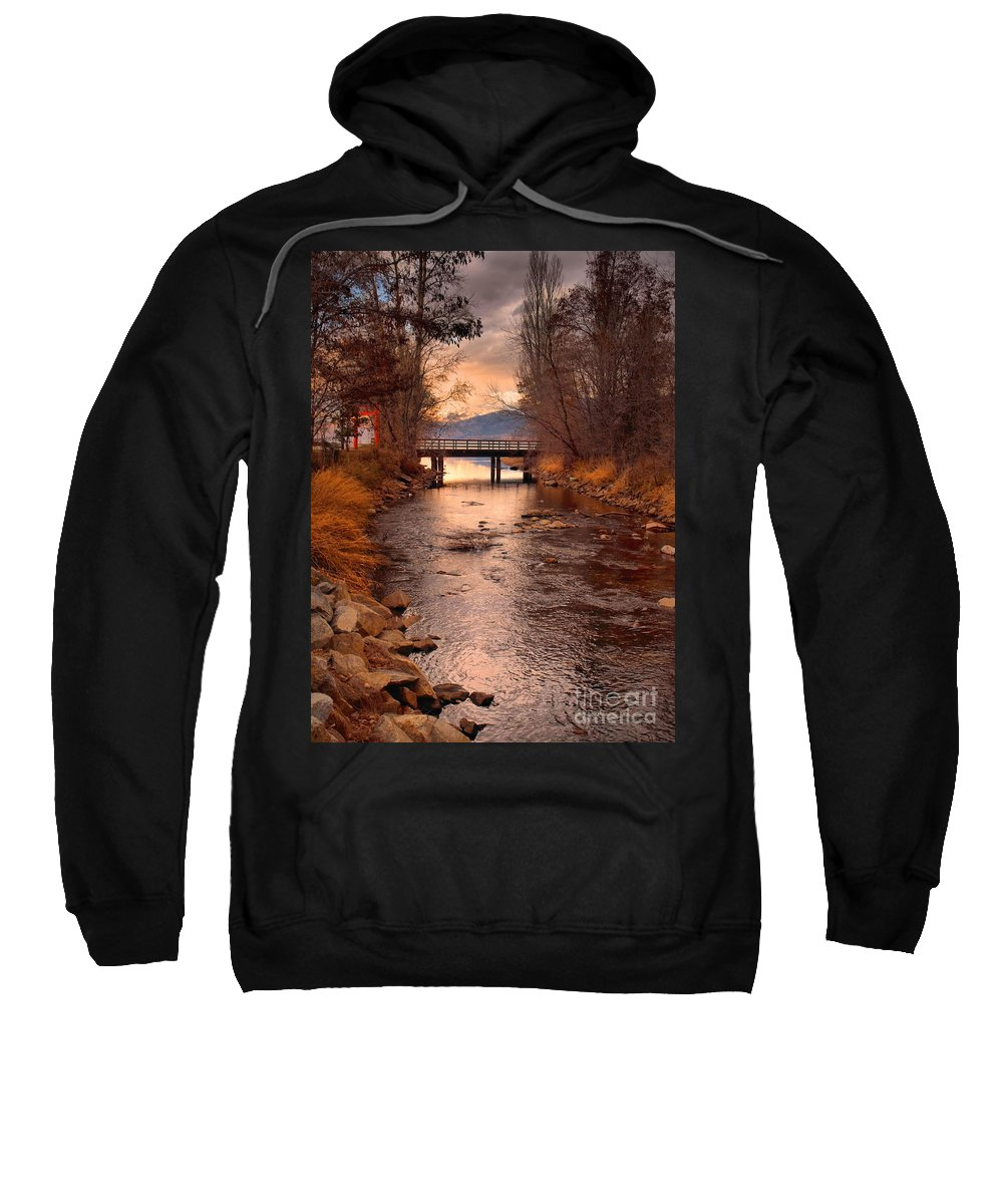 Bridge Sweatshirt featuring the photograph The Bridge By The Lake by Tara Turner