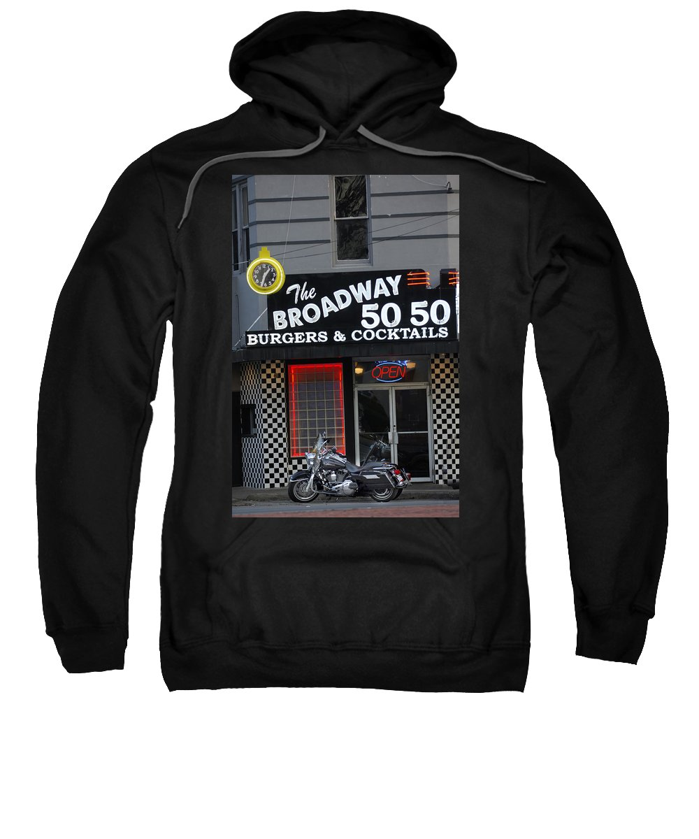 Diner Sweatshirt featuring the photograph The Broadway 50 50 by Jill Reger
