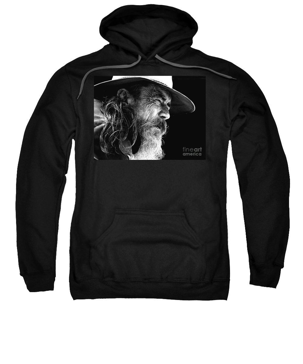 Australian Bushman Hat Sweatshirt featuring the photograph The Bushman by Avalon Fine Art Photography