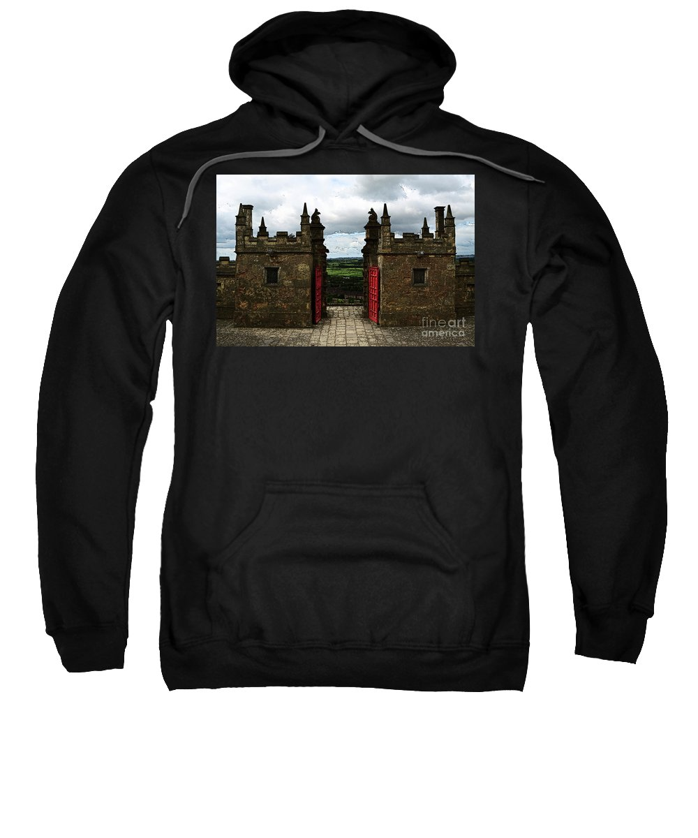 Bolsover Sweatshirt featuring the photograph The Castle Gates by Louise Heusinkveld