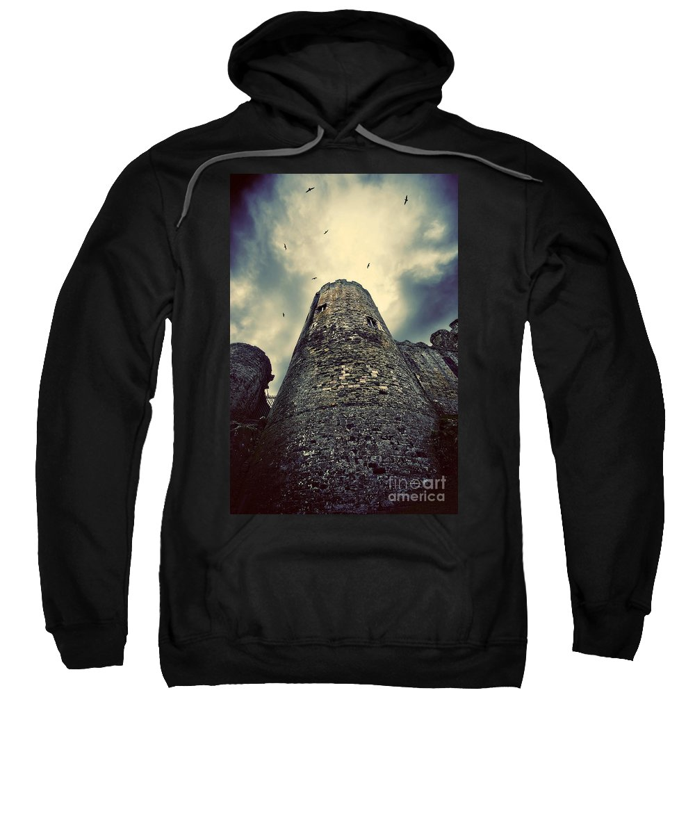 Conway Sweatshirt featuring the photograph The Chapel Tower by Meirion Matthias