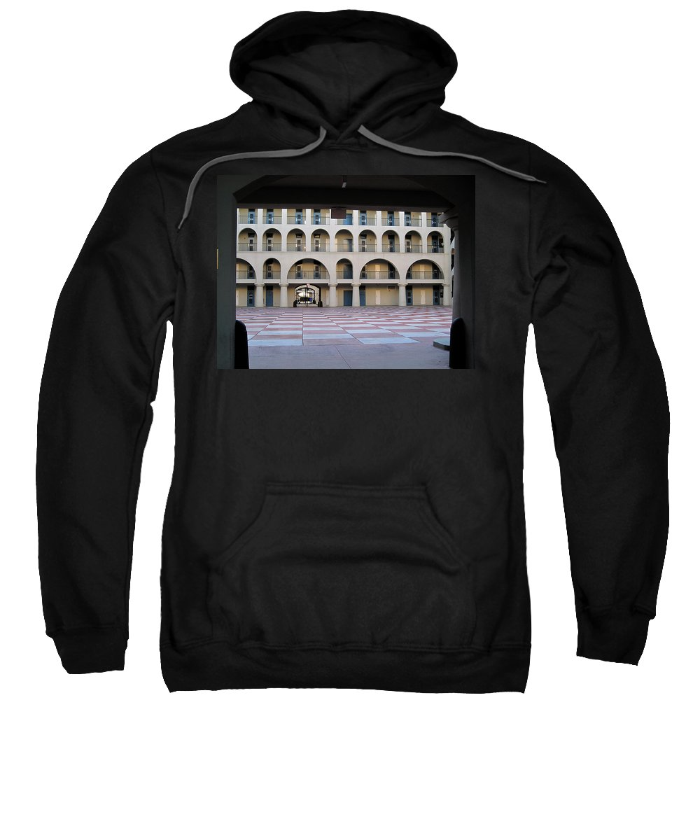 Photography Sweatshirt featuring the photograph The Citadel In Charleston Iv by Susanne Van Hulst
