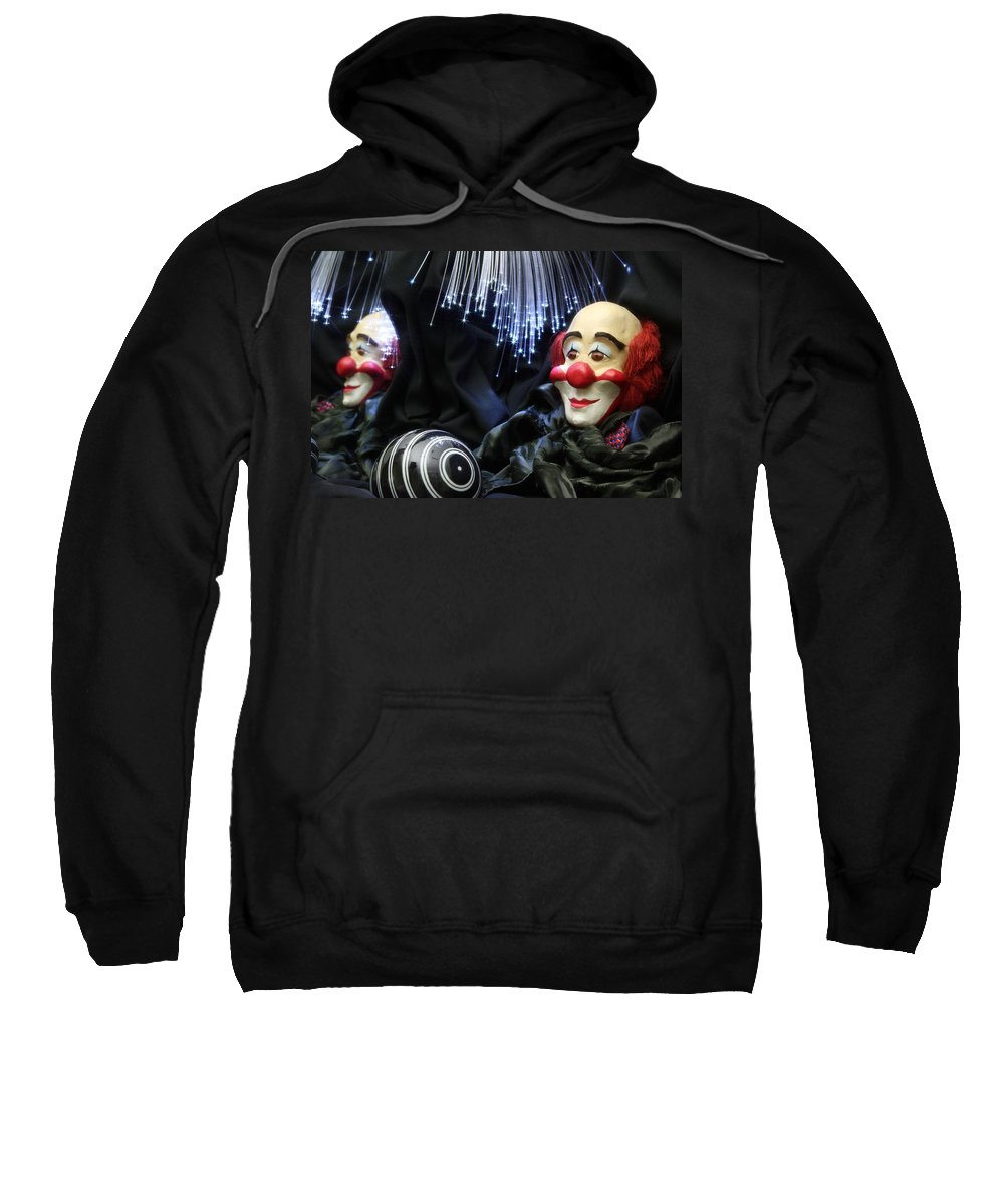 Clown Sweatshirt featuring the photograph The Clown by Manfred Lutzius