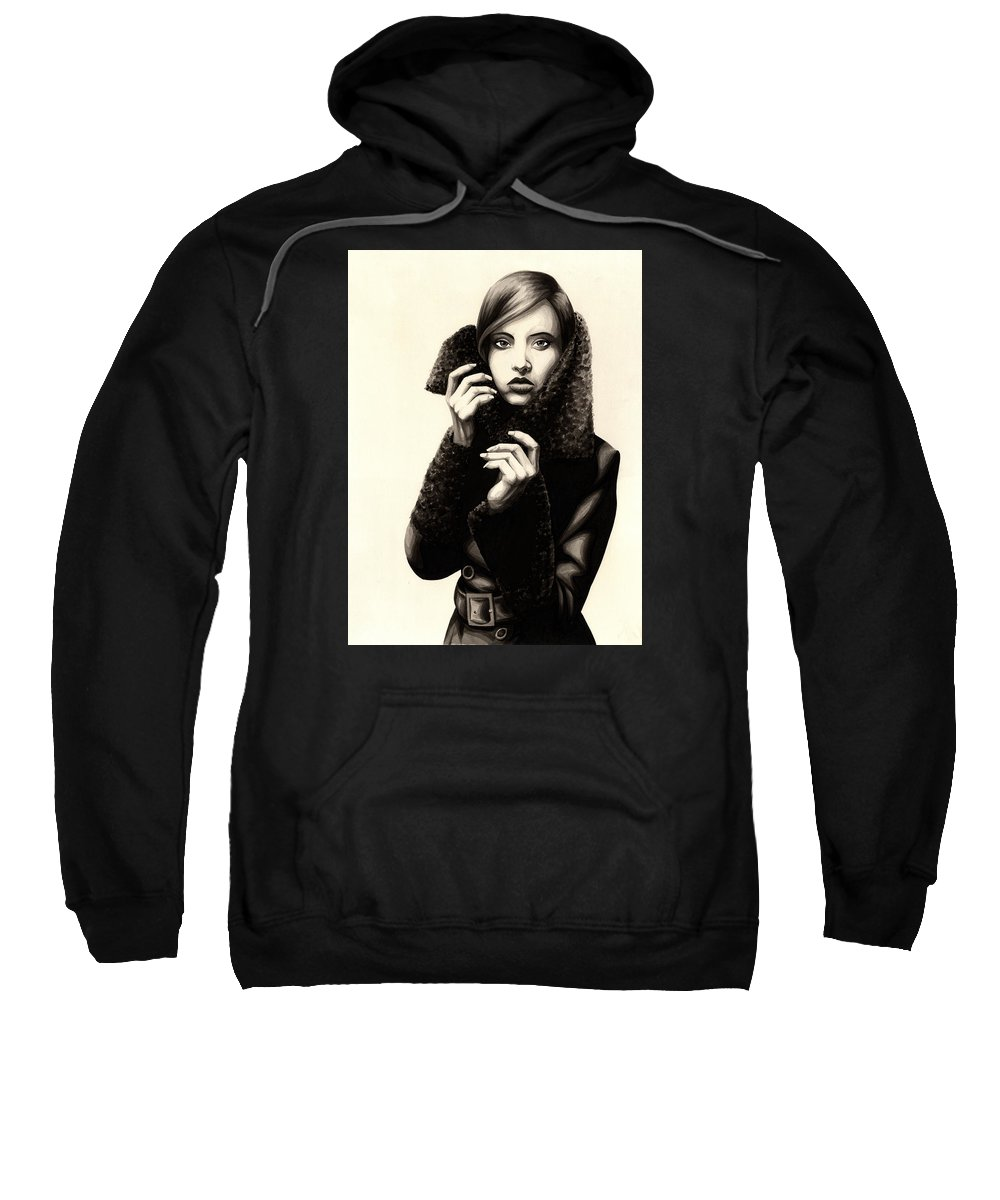 Ink Sweatshirt featuring the painting The Coat by James Taylor