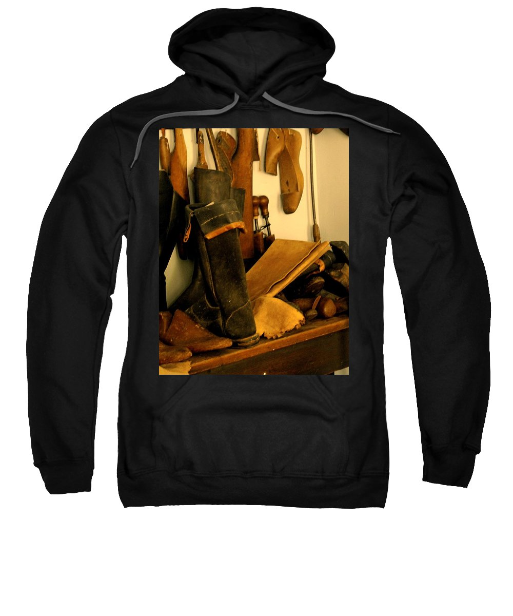 Shoess Sweatshirt featuring the photograph The Cobbler by Ian MacDonald