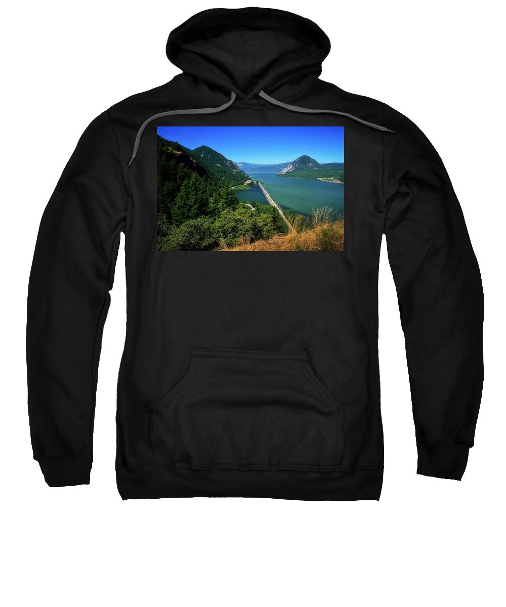 Columbia Gorge Sweatshirt featuring the photograph The Columbia Gorge National Scenic Area by Albert Seger