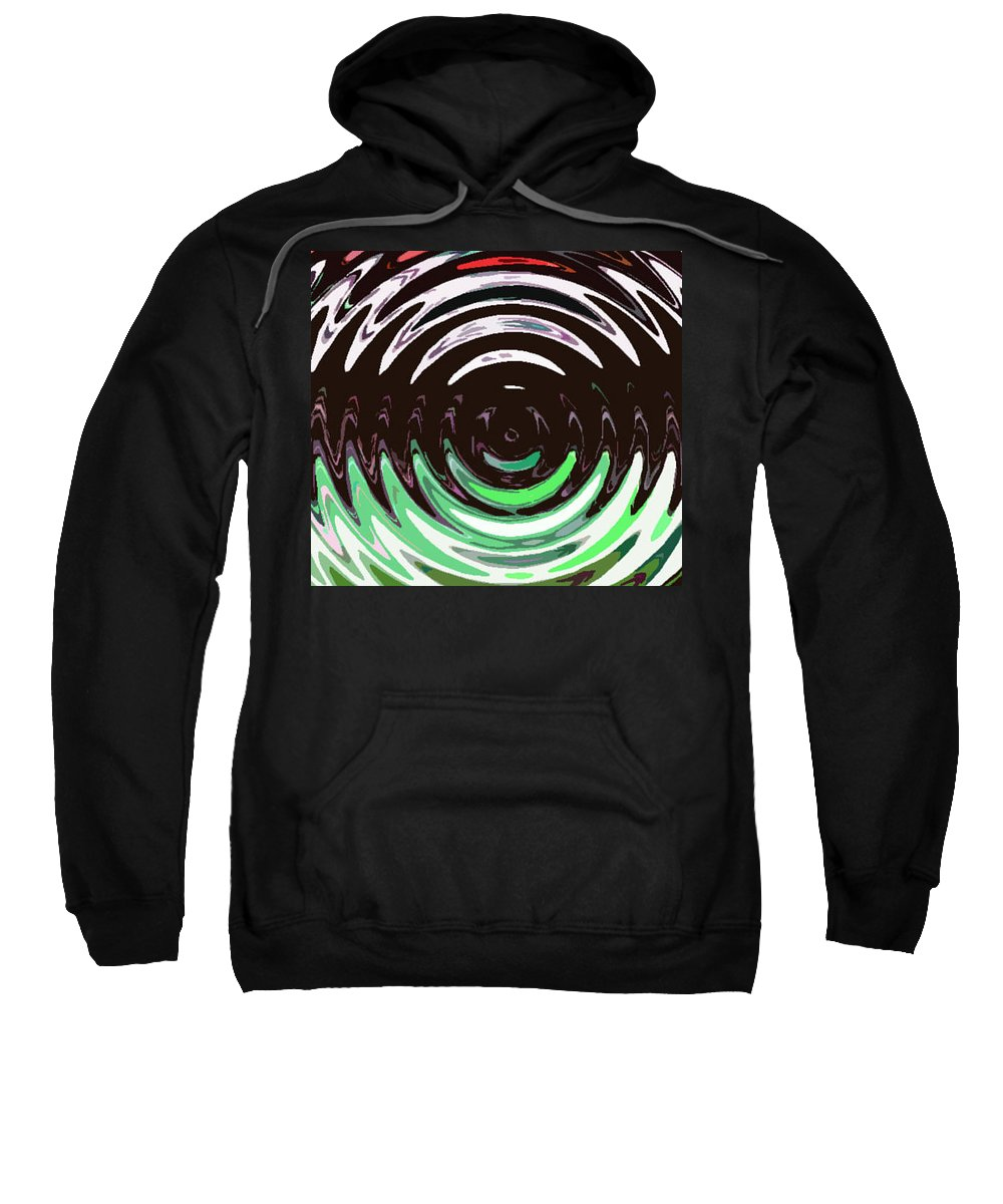 Abstract Sweatshirt featuring the digital art The Congregation by Lenore Senior