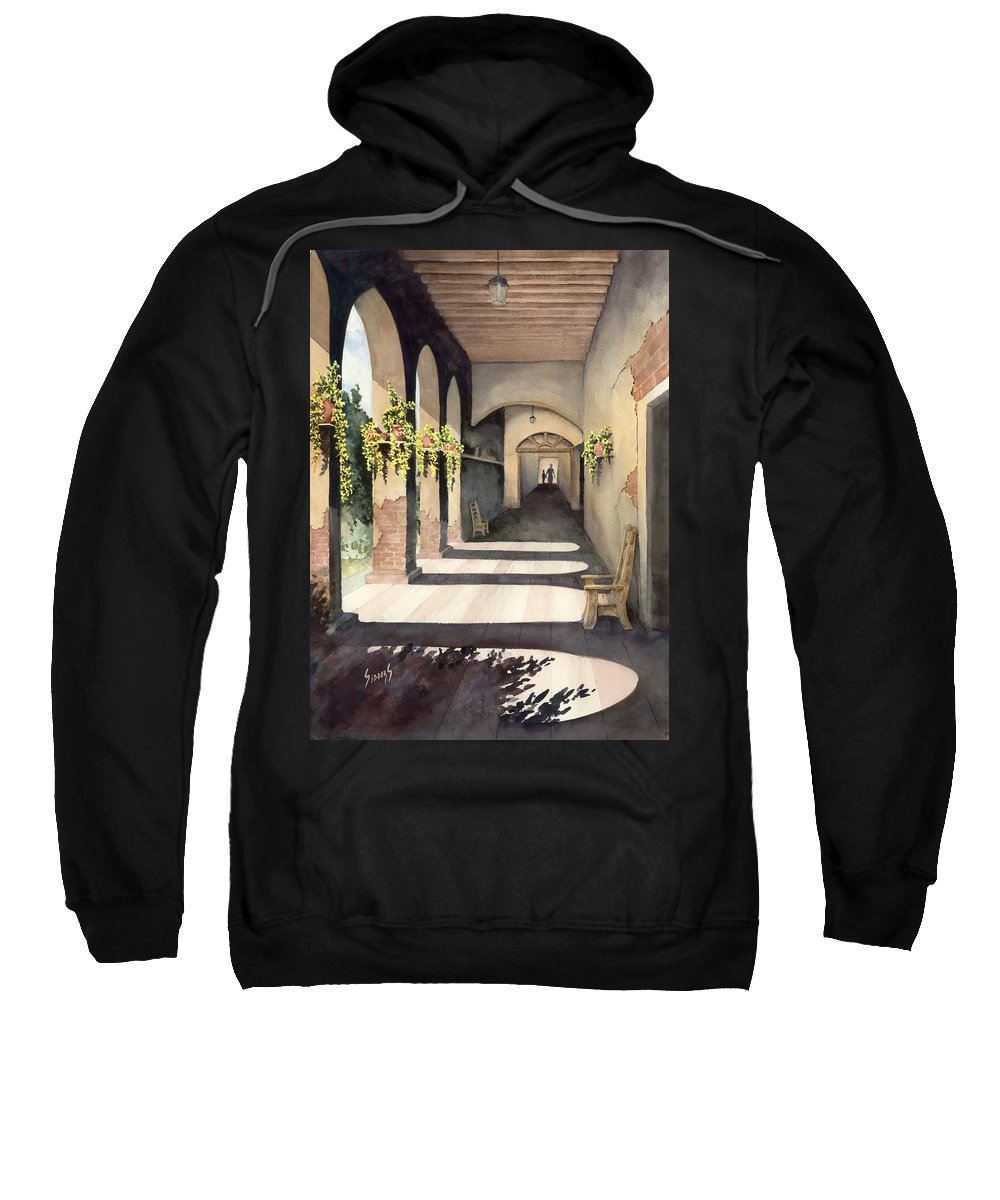Plants Sweatshirt featuring the painting The Corridor 2 by Sam Sidders