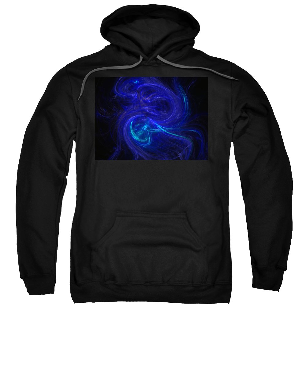 Abstract Digital Photo Sweatshirt featuring the digital art The Dance 2 by David Lane