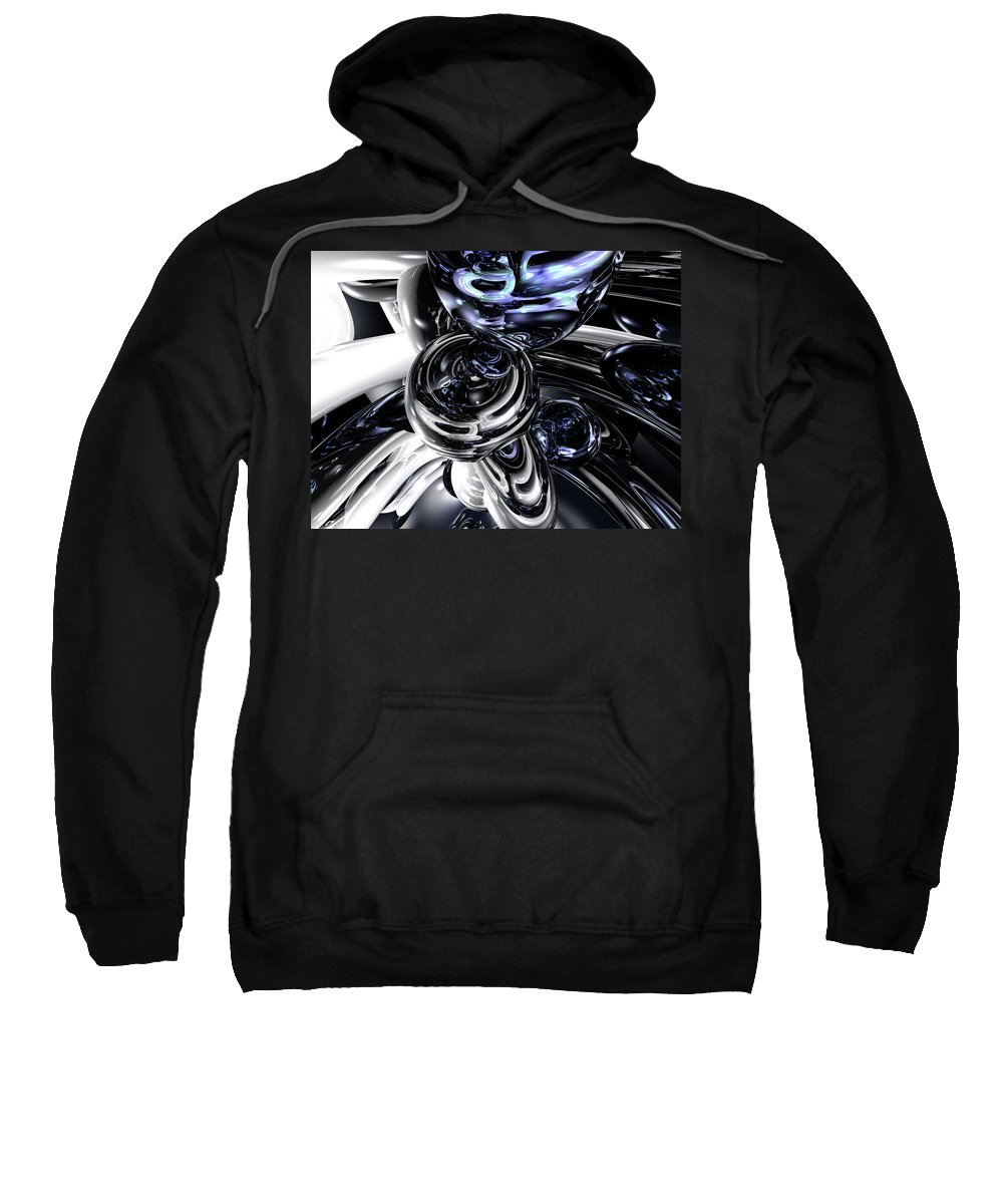 3d Sweatshirt featuring the digital art The Darkside Abstract by Alexander Butler