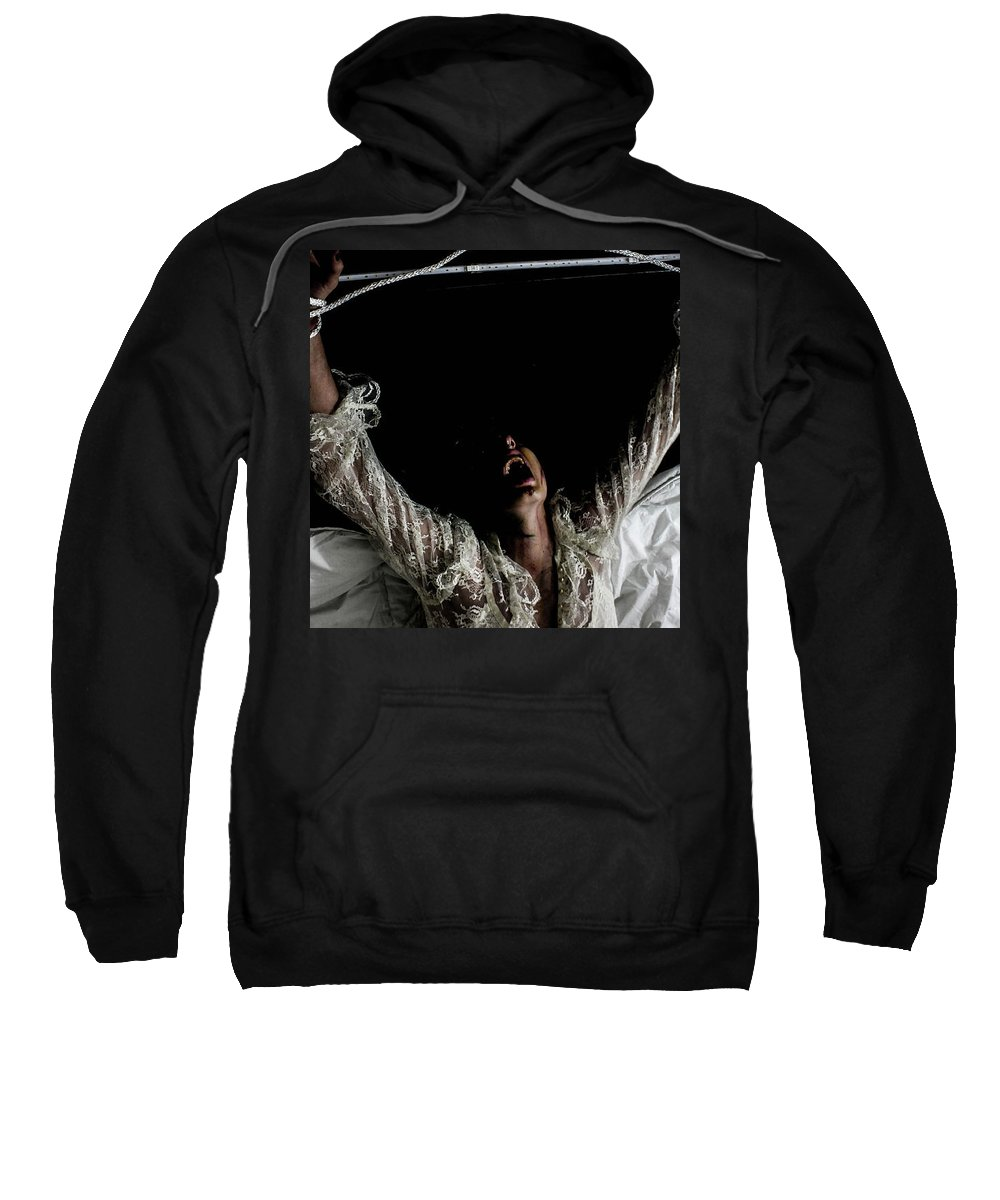 Sweatshirt featuring the photograph The Exorcism by Hailey Christensen