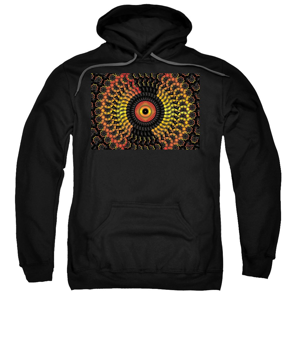 Colorful Sweatshirt featuring the digital art The Eye Of The Storm- by Robert Orinski