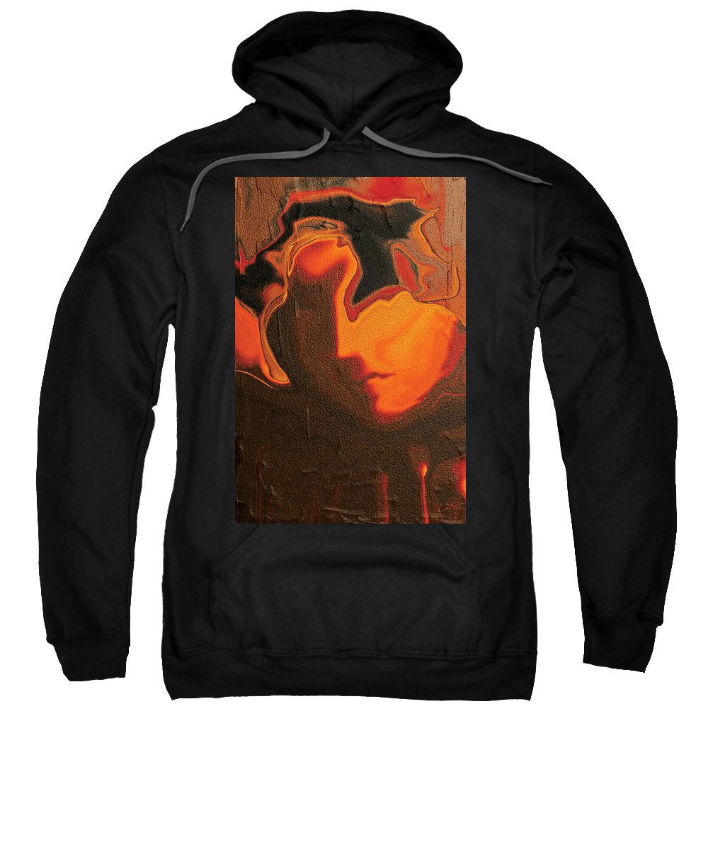 Abstract Sweatshirt featuring the digital art The Face 2 by Rabi Khan