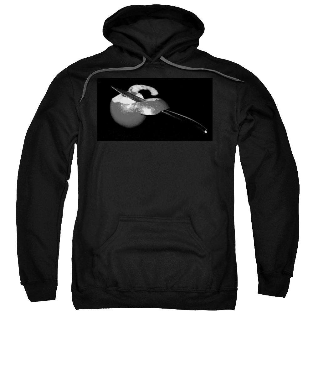 Apple Sweatshirt featuring the photograph The First Cut by Ian MacDonald