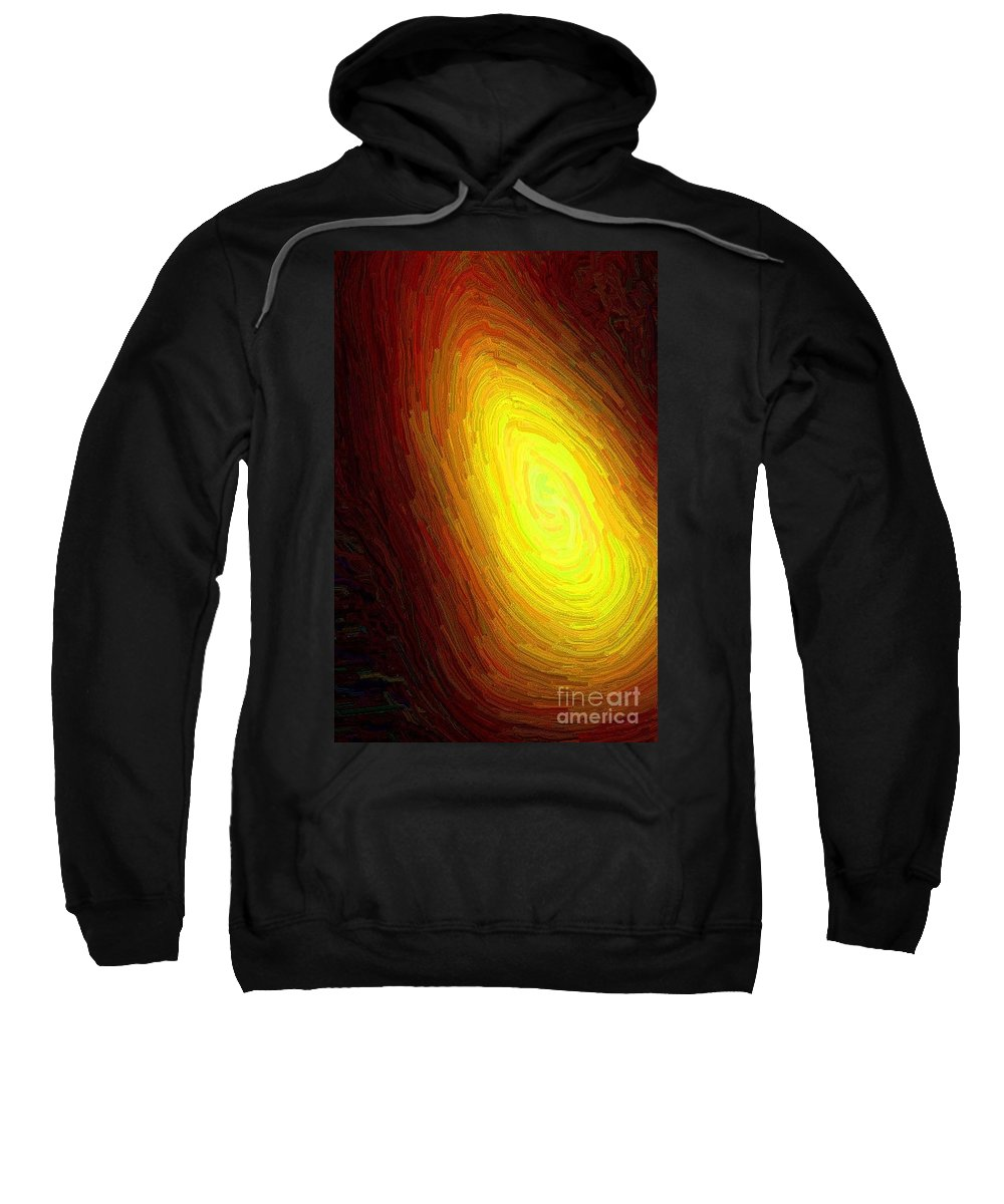 Flame Sweatshirt featuring the digital art The Flame by April Patterson