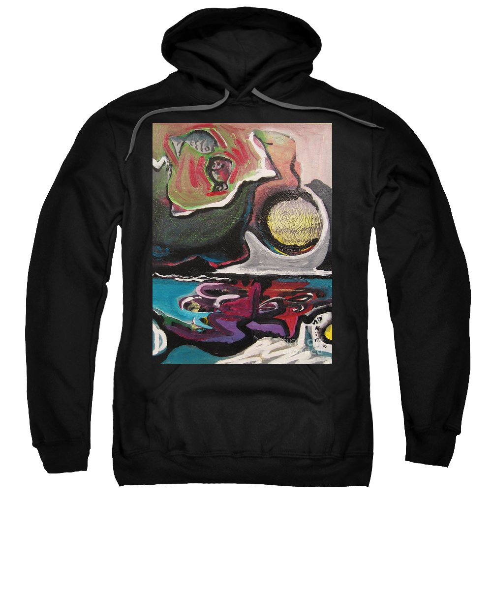 Abstract Paintings Sweatshirt featuring the painting The Full Moon2 by Seon-Jeong Kim