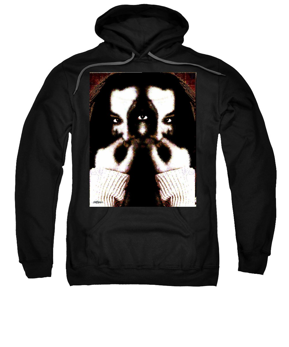 The Giggler Sweatshirt featuring the digital art The Giggler by Seth Weaver