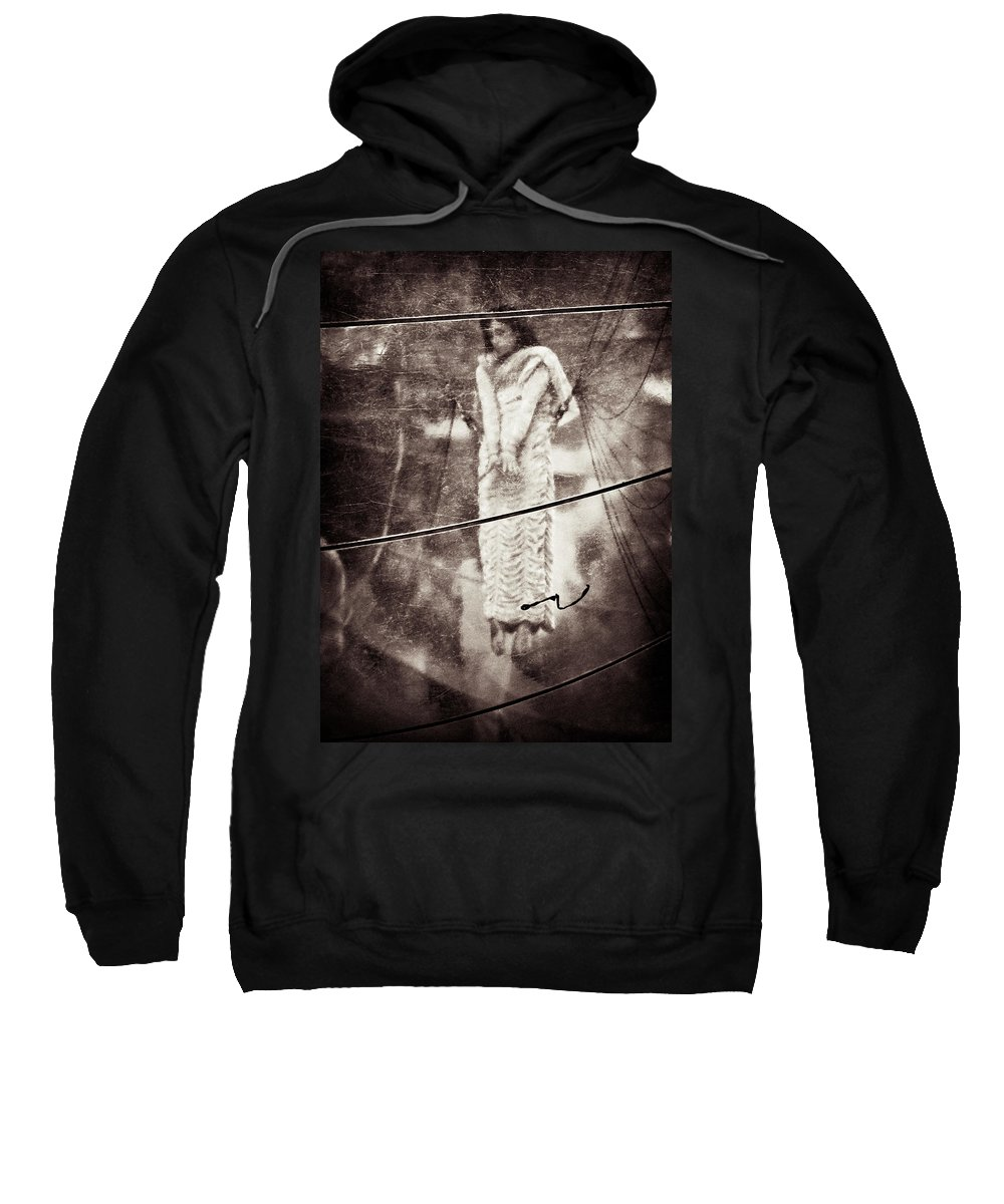 Girl Sweatshirt featuring the photograph The Girl In The Bubble by Dave Bowman