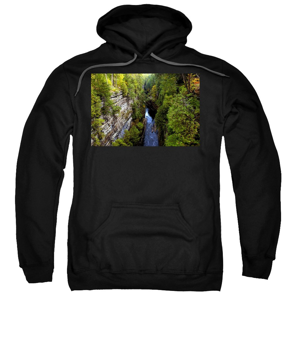 Chasm Sweatshirt featuring the painting The Great Chasm by David Lee Thompson