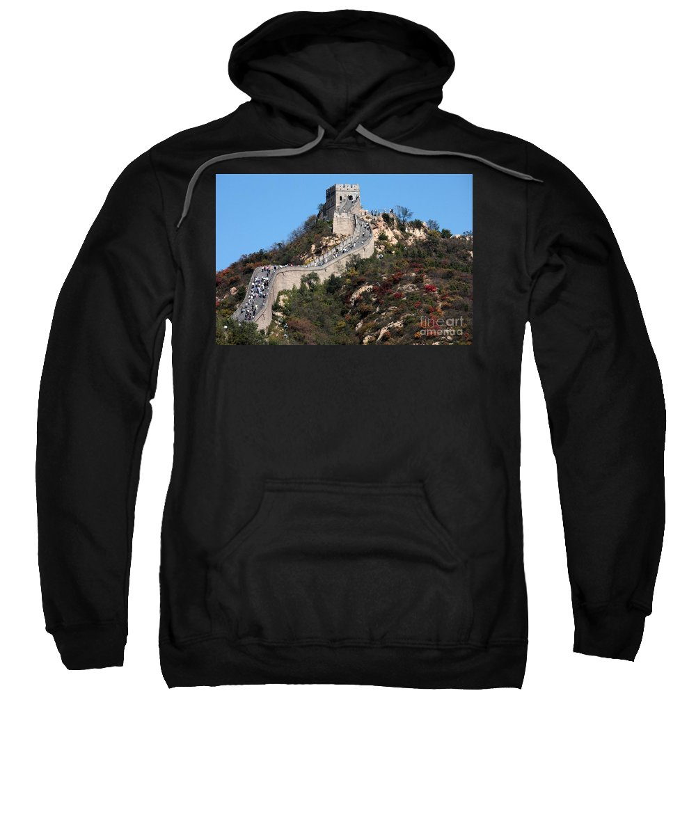 The Great Wall Of China Sweatshirt featuring the photograph The Great Wall Mountaintop by Carol Groenen