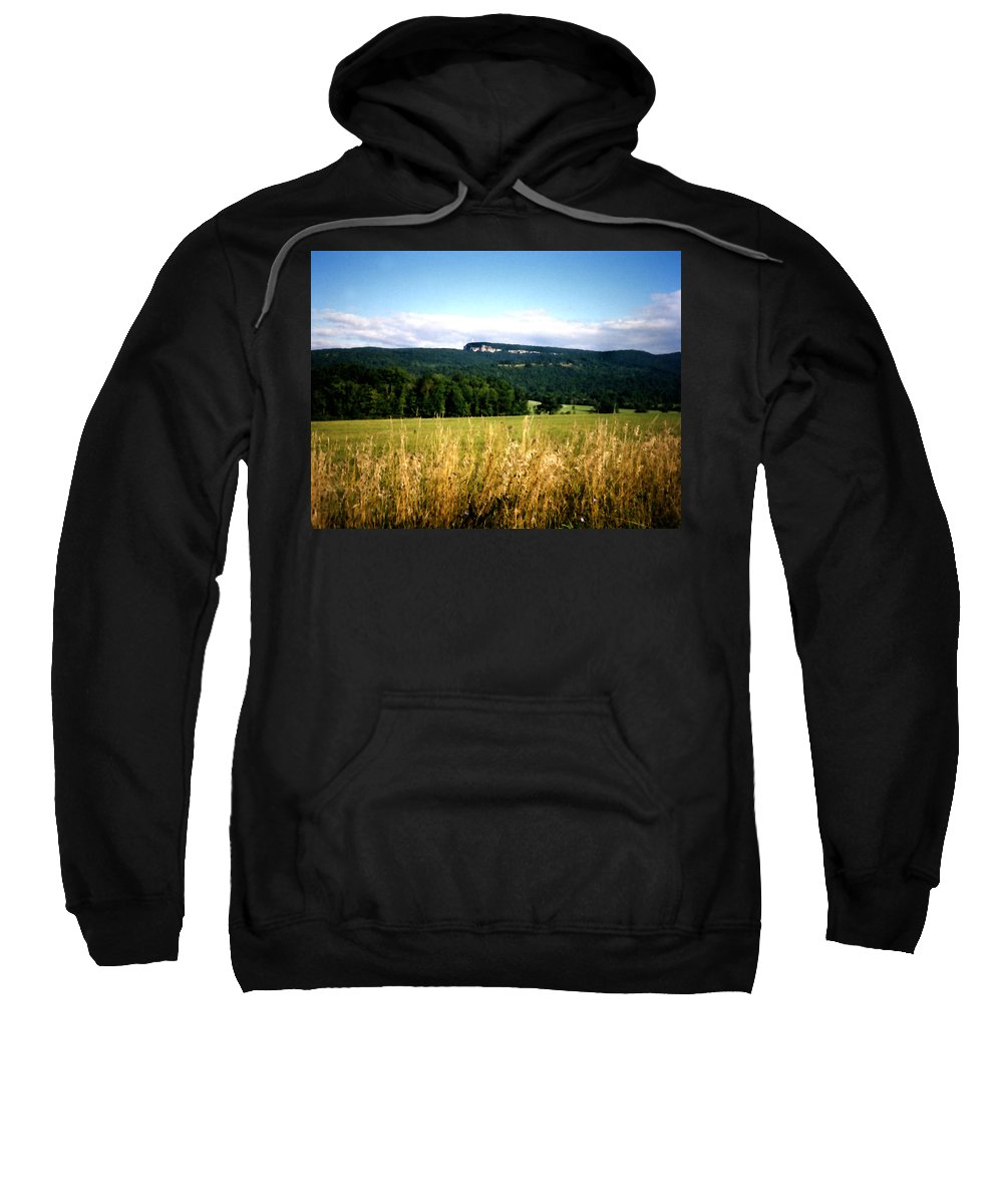 Mountains Sweatshirt featuring the painting The Gunks by Paul Sachtleben