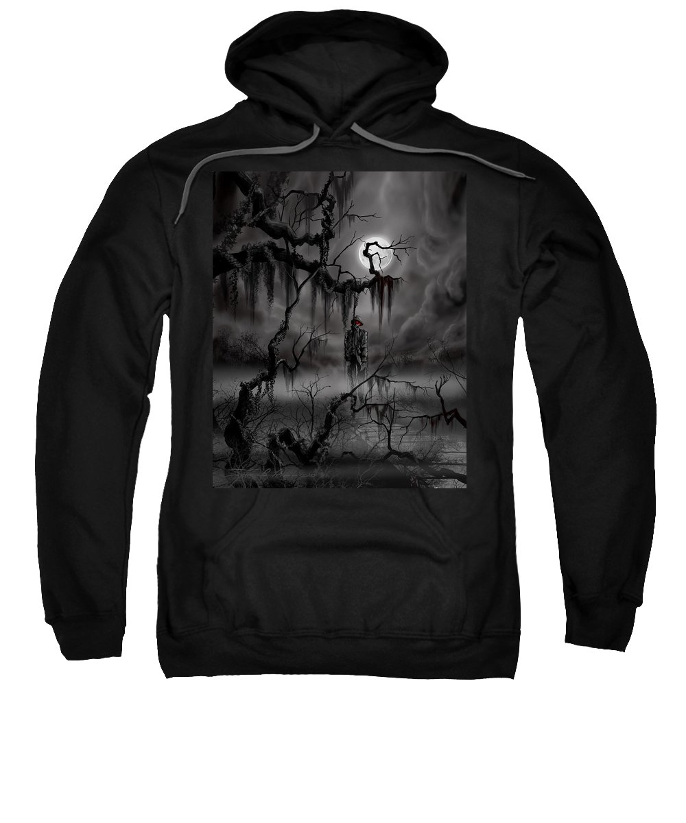 Nightmare Sweatshirt featuring the painting The Hangman by James Christopher Hill