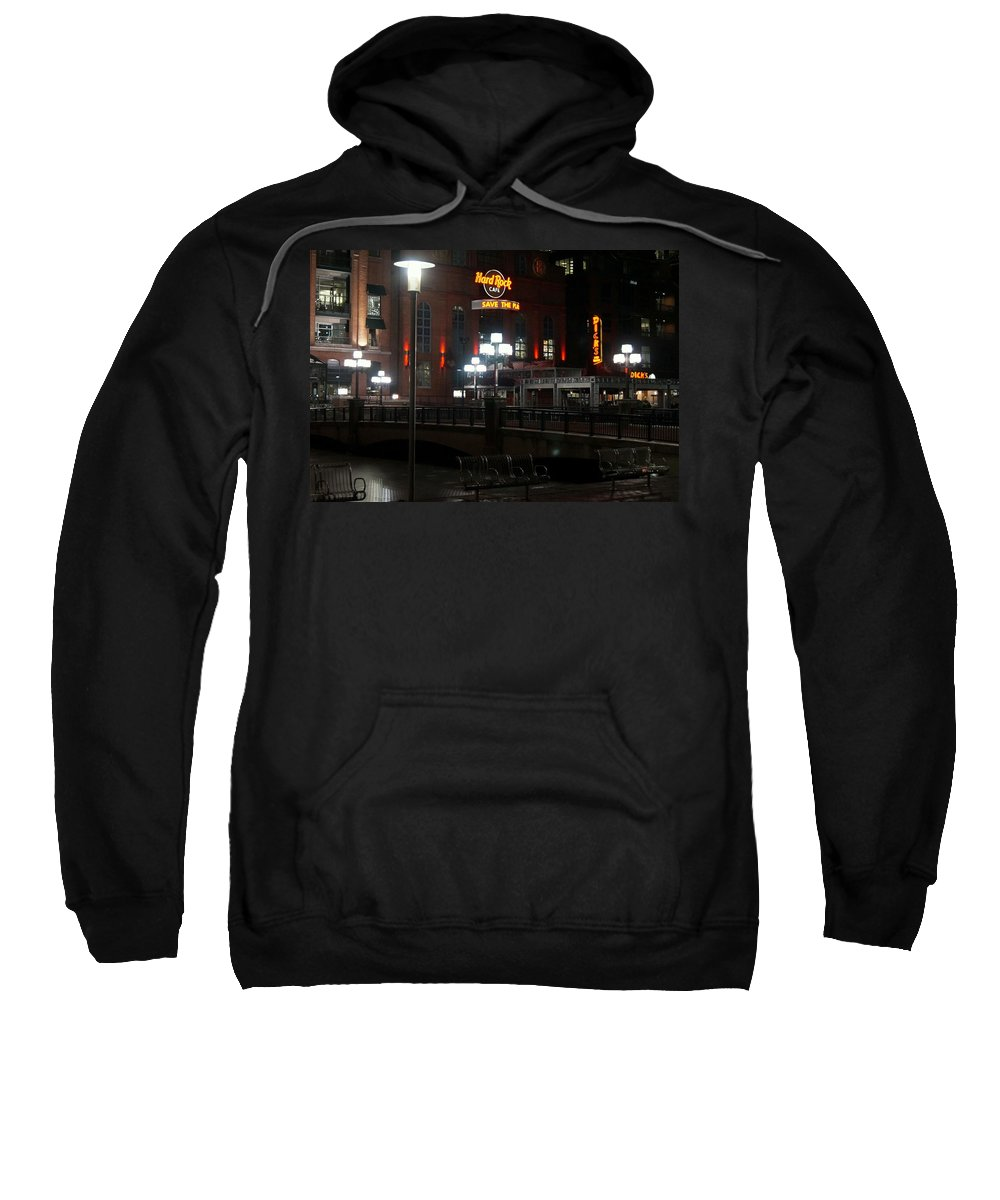 Hard Sweatshirt featuring the photograph The Hard Rock At The Inner Harbor by John Wall