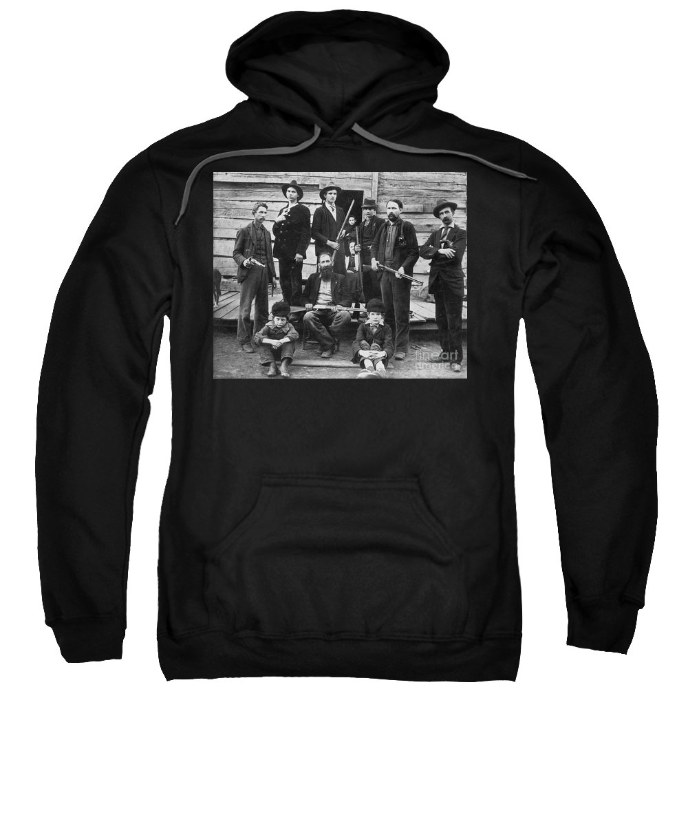 1899 Sweatshirt featuring the photograph The Hatfields, 1899 - To License For Professional Use Visit Granger.com by Granger