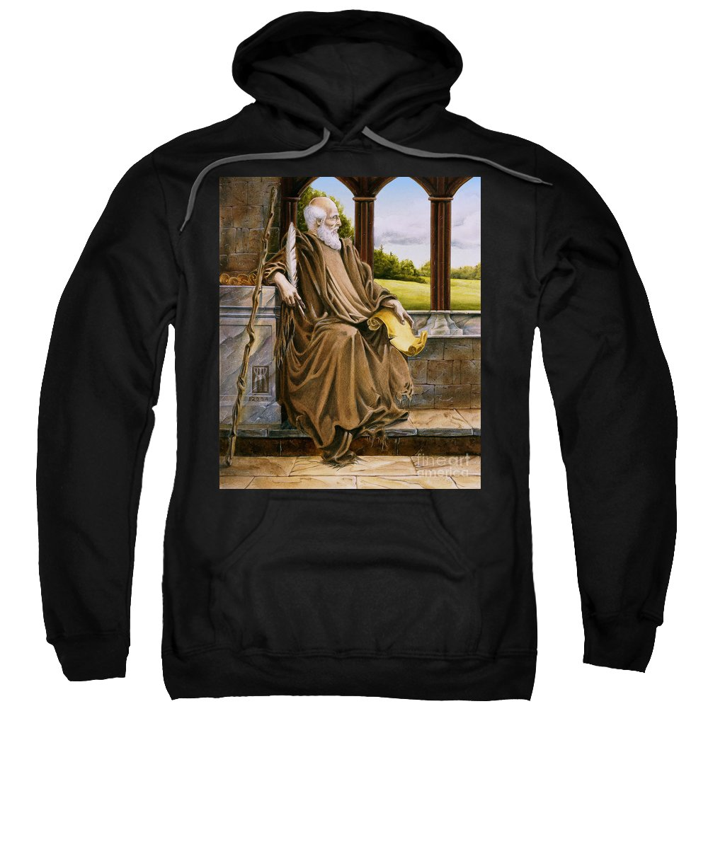 Wise Man Sweatshirt featuring the painting The Hermit Nascien by Melissa A Benson