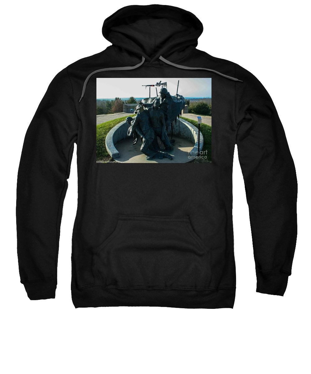 Native American Sweatshirt featuring the photograph The Highground by Tommy Anderson