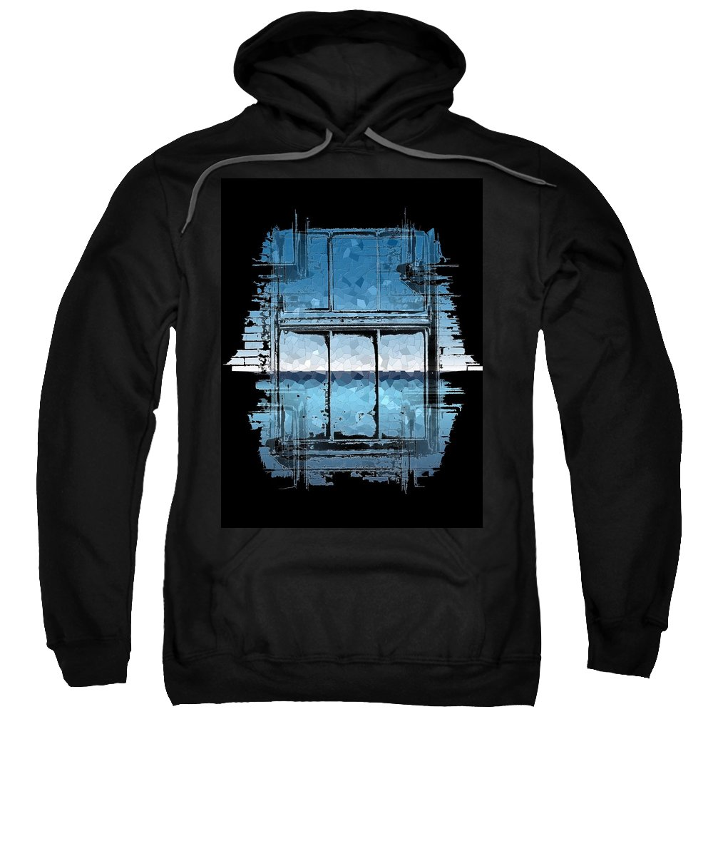 Abstract Sweatshirt featuring the digital art The Horizon Beyond by Tim Allen