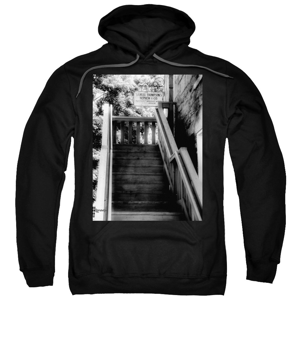 Black And White Sweatshirt featuring the photograph The Immigrant Traders by RC DeWinter