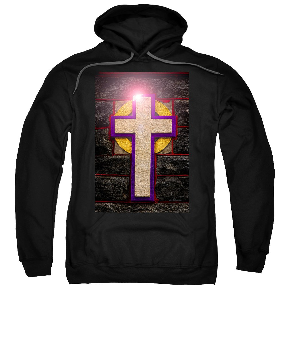 Cross Sweatshirt featuring the photograph The Inner Light by Christopher Holmes