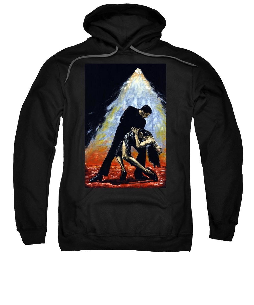Tango Sweatshirt featuring the painting The Intoxication Of Tango by Richard Young