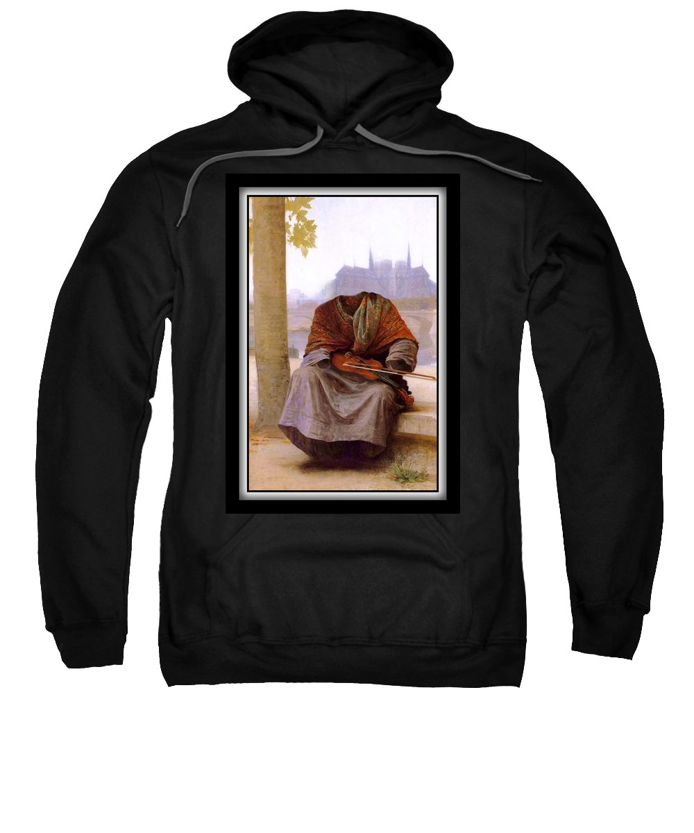 Bouguereau Sweatshirt featuring the painting The Invisible Bohemian by Gravityx9 Designs